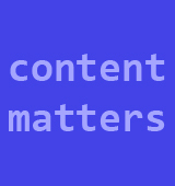 Masterthesis: Content Matters