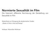 Masterthesis: Normierte Sexualität im Film