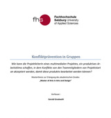 Masterthesis: Konfliktprävention in Gruppen