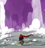 2D Illustration -  der Drache von Malula