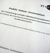 Public Value: Innovation
